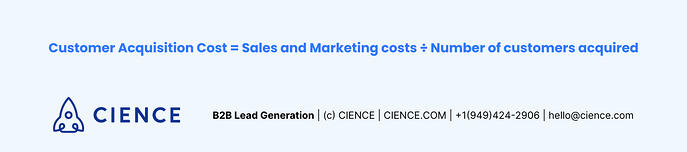 Customer Acquisition Cost formula in Sales
