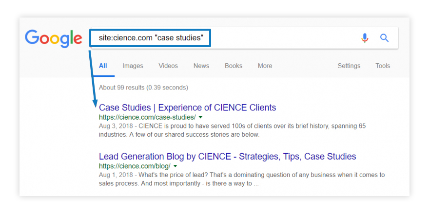 How to choose a lead generation company? Do your own research - look up the case studies