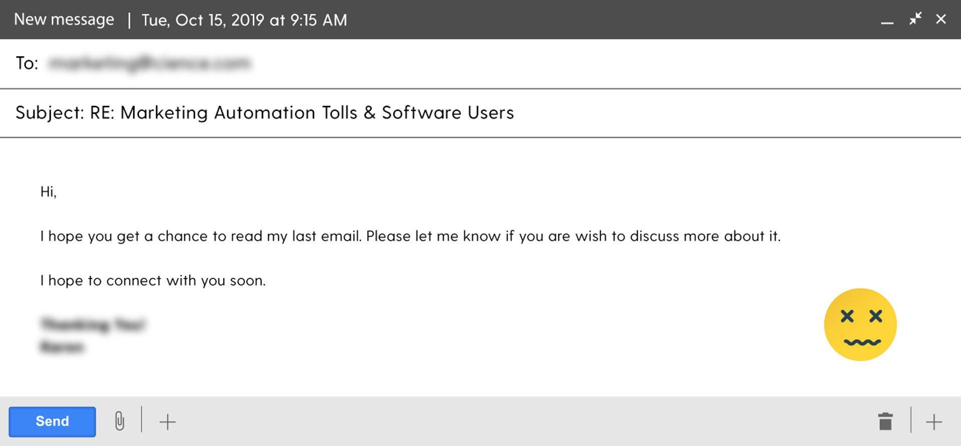 ugly email of november, wave 2