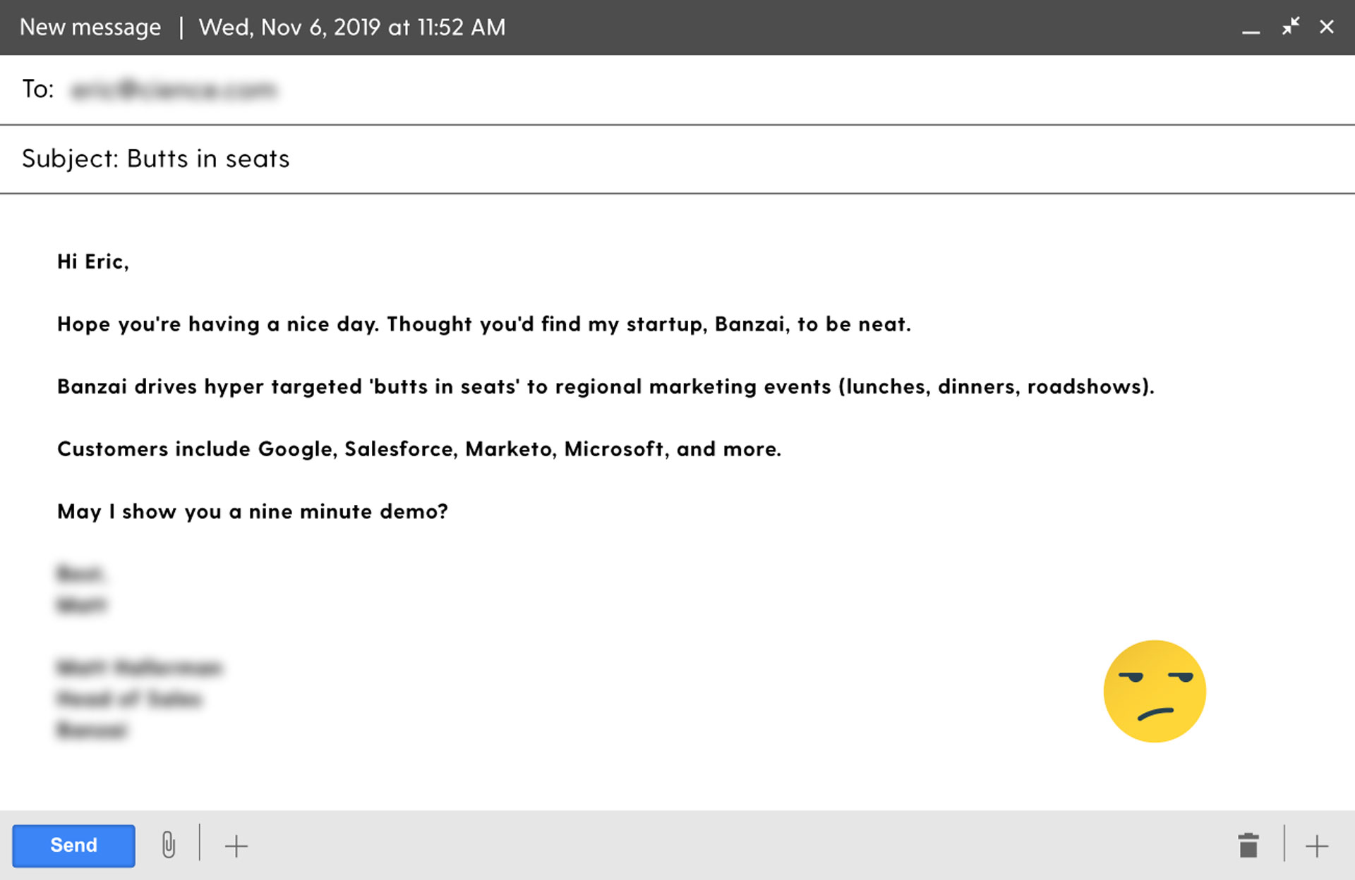 How not to write cold emails?