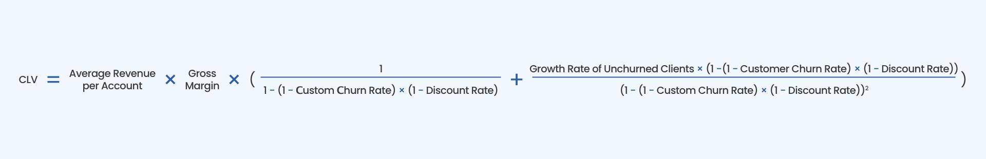 CLV formula - Customer Lifetime Value