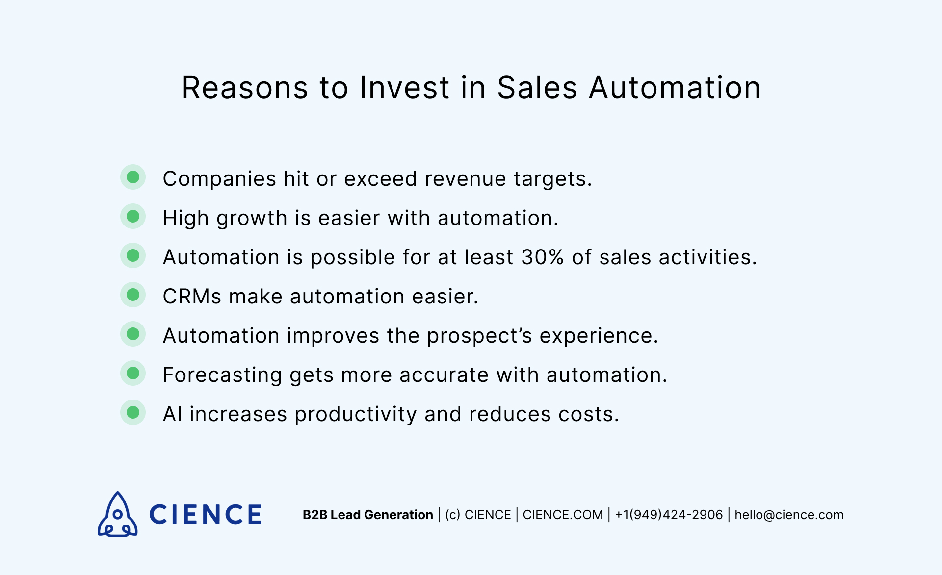Sales automation - reasons to invest in it