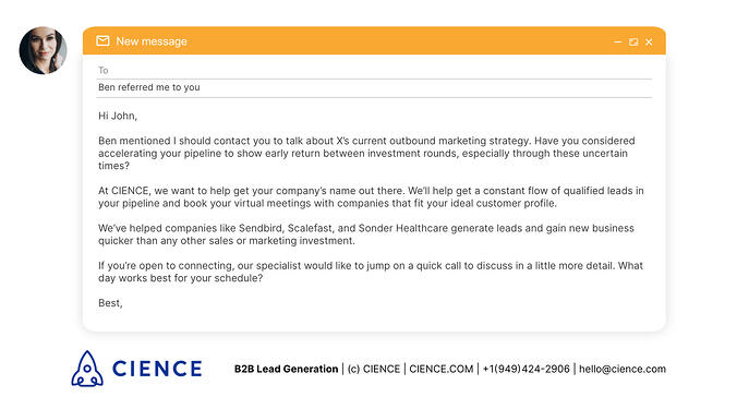 Sales Email Follow-Up Example - Focus on Prospect's Needs