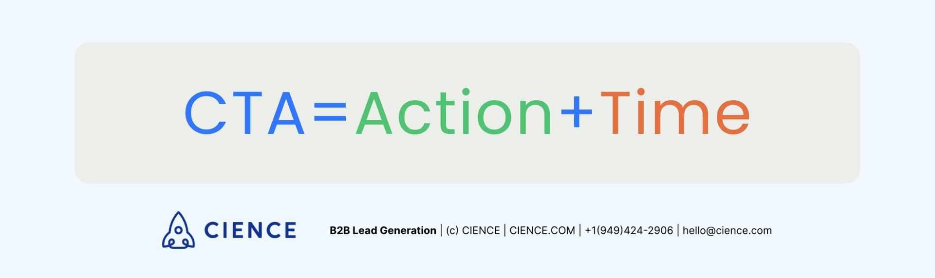 Call to action formula CTA