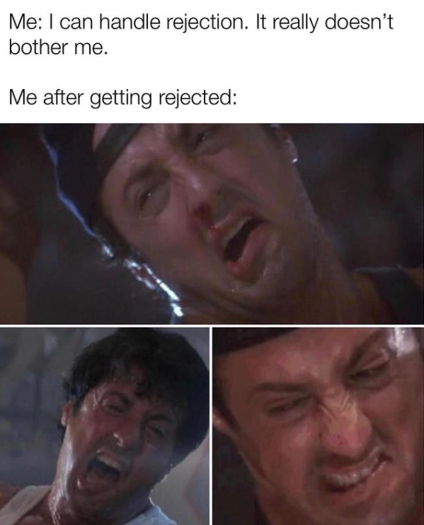 Sales humor: funny meme about rejection