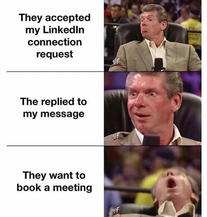 Funny meme about sales success!