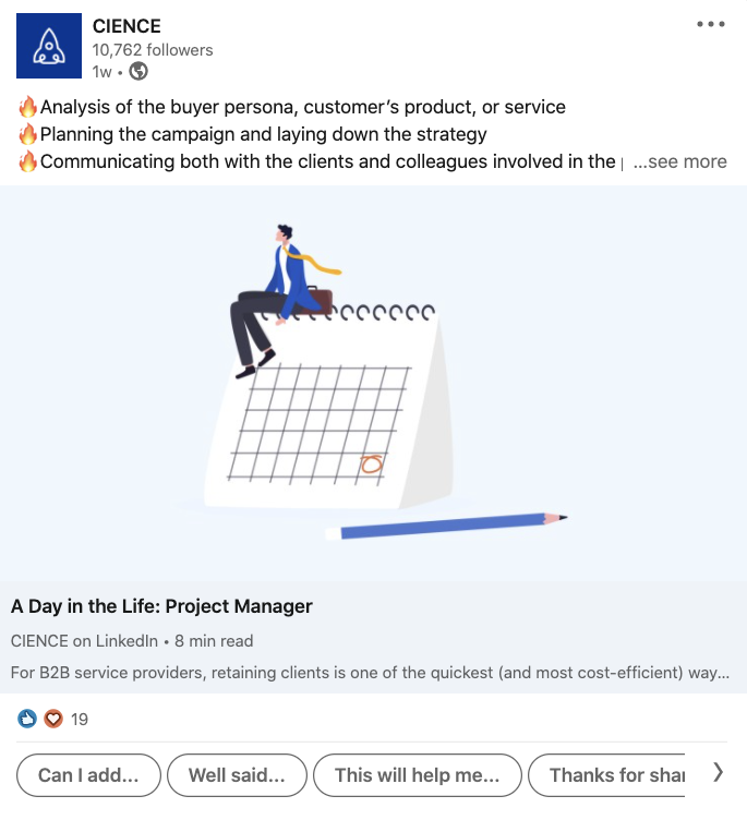 Brand management on LinkedIn