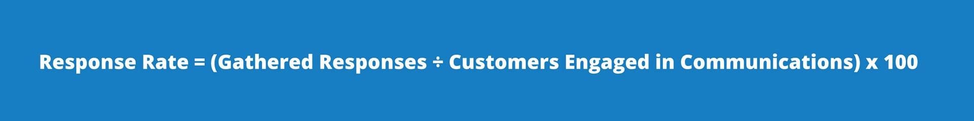 Email response rate formula