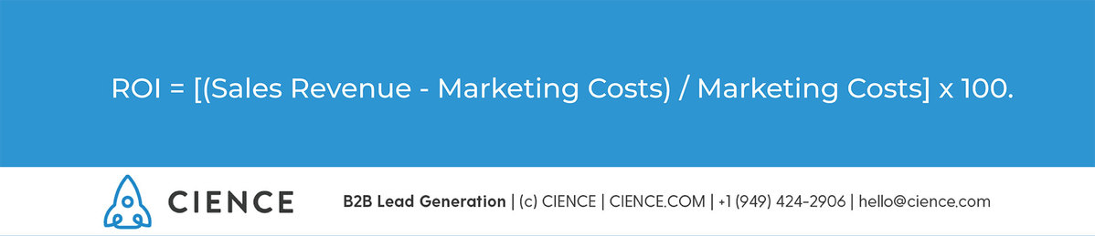Return on Marketing Investment formula. Marketing ROI