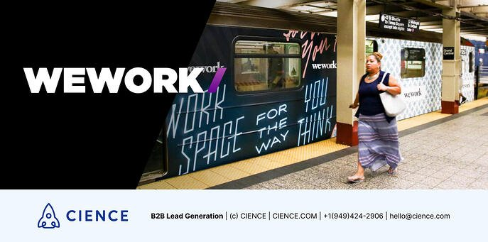Even a banner on a metro can bring incredible results.